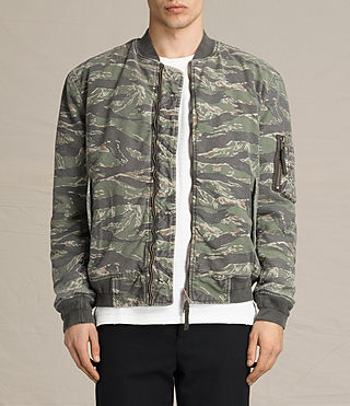 Hommes Bomber Malin (Khaki Brown)