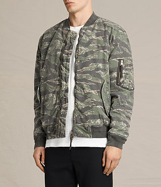 Men's Malin Bomber Jacket (Khaki Brown) - product_image_alt_text_3