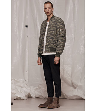 Men's Malin Bomber Jacket (Khaki Brown) - product_image_alt_text_7