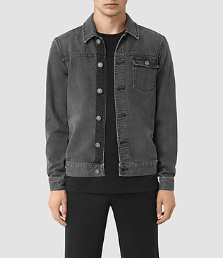 Hombres Struan Denim Jacket (Grey) -