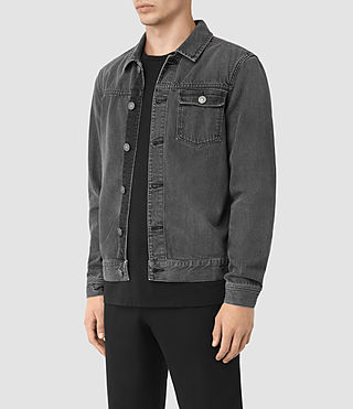 Hombres Struan Denim Jacket (Grey) - product_image_alt_text_2