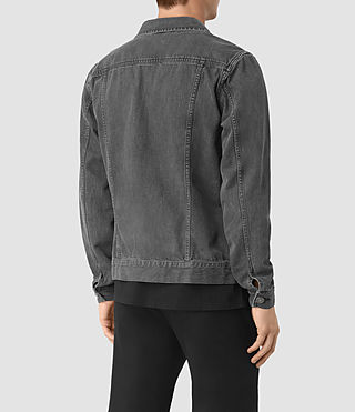 Hombres Struan Denim Jacket (Grey) - product_image_alt_text_3
