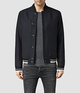 Mens Miles Bomber Jacket (INK NAVY)