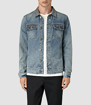 Hombre Kilmory Denim Jacket (Indigo Blue) - product_image_alt_text_1