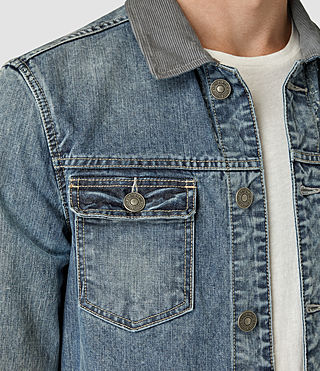 Mens Kilmory Denim Jacket (Indigo Blue) - product_image_alt_text_2