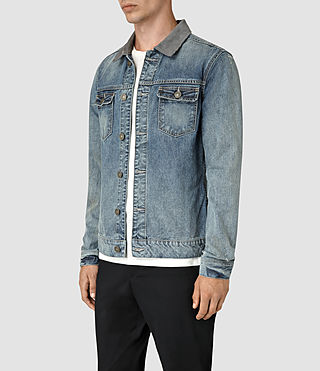 Mens Kilmory Denim Jacket (Indigo Blue) - product_image_alt_text_3
