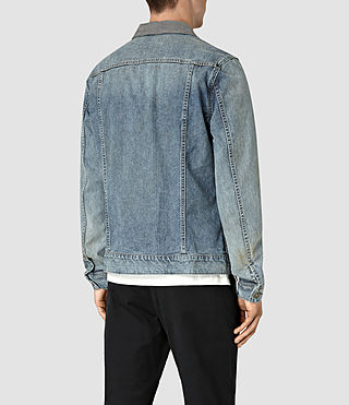 Mens Kilmory Denim Jacket (Indigo Blue) - product_image_alt_text_5