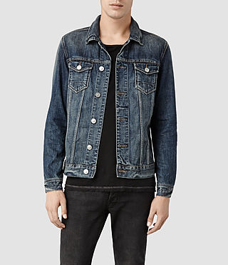 Mens Colbert Denim Jacket (Mid Indigo)