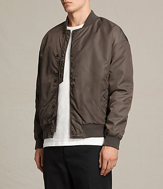 Mens Kitson Bomber Jacket (Khaki Brown) - product_image_alt_text_3