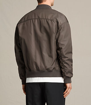 Mens Kitson Bomber Jacket (Khaki Brown) - product_image_alt_text_4