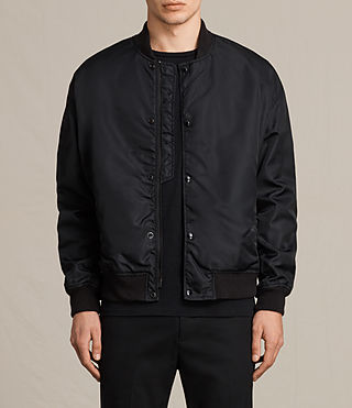 Mens Kitson Bomber Jacket (Black) - product_image_alt_text_1