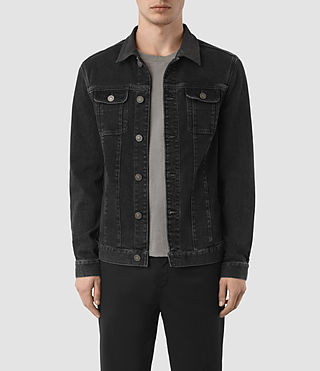 Hombres Leith Denim Jacket (Graphite)