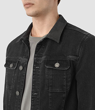 Mens Leith Denim Jacket (Graphite) - product_image_alt_text_2