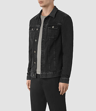 Hommes Veste en denim Leith (Graphite) - product_image_alt_text_3