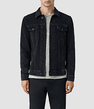 Mens Durness Denim Jacket (Black) - product_image_alt_text_1