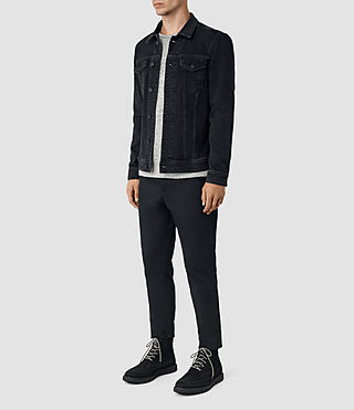 Mens Durness Denim Jacket (Black) - product_image_alt_text_2