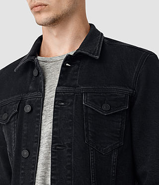 Mens Durness Denim Jacket (Black) - product_image_alt_text_3