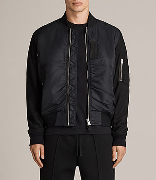 Men's Bate Bomber Jacket (Black) - Image 1