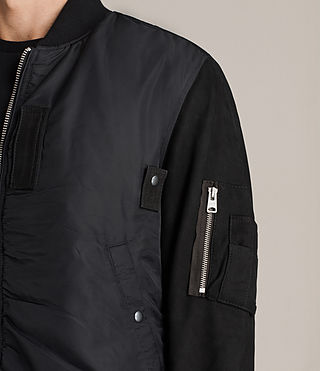 Men's Bate Bomber Jacket (Black) - Image 2