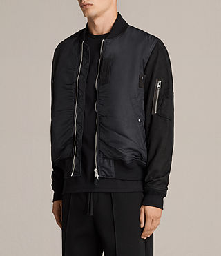 Men's Bate Bomber Jacket (Black) - Image 3
