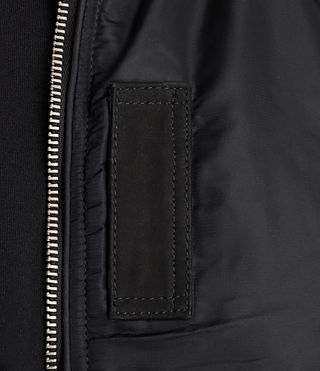 Men's Bate Bomber Jacket (Black) - Image 4