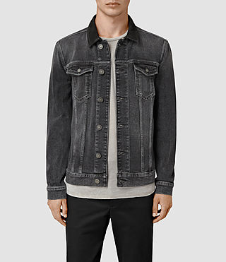 Hombre Creagan Denim Jacket (Grey) - product_image_alt_text_1