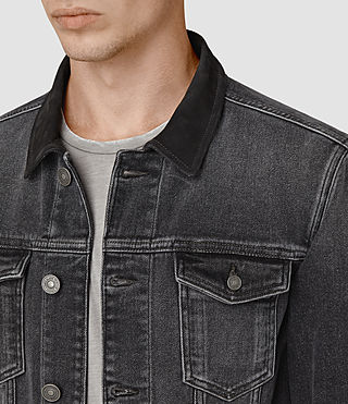 Hombre Creagan Denim Jacket (Grey) - product_image_alt_text_2