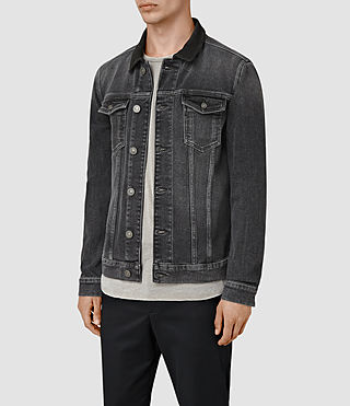 Hombre Creagan Denim Jacket (Grey) - product_image_alt_text_3