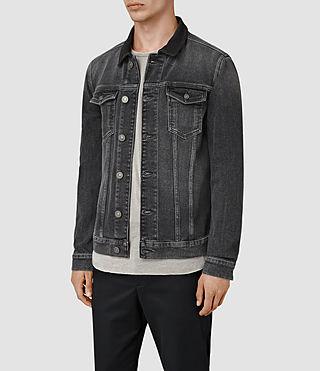Hommes Creagan Denim Jacket (Grey) - product_image_alt_text_3