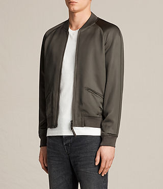 Uomo Yuki Bomber Jacket (Khaki Green) - product_image_alt_text_3