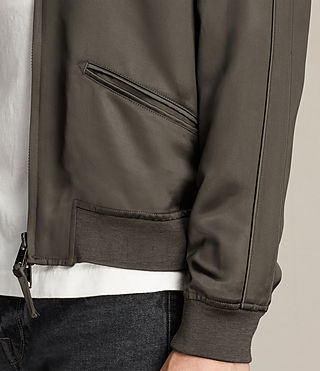 Uomo Yuki Bomber Jacket (Khaki Green) - product_image_alt_text_4