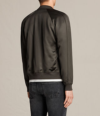 Uomo Yuki Bomber Jacket (Khaki Green) - product_image_alt_text_6