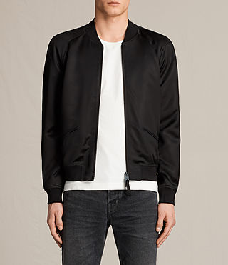 Mens Yuki Bomber Jacket (Black) - product_image_alt_text_1
