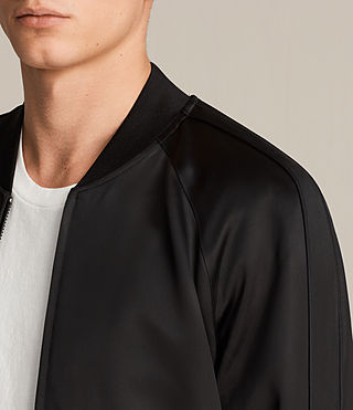 Mens Yuki Bomber Jacket (Black) - product_image_alt_text_2