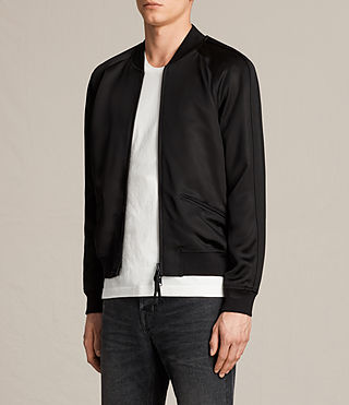 Mens Yuki Bomber Jacket (Black) - product_image_alt_text_3