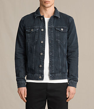 Mens Mallaig Denim Jacket (Indigo Blue) - product_image_alt_text_1