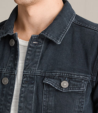 Hommes Mallaig Denim Jacket (Indigo Blue) - product_image_alt_text_2