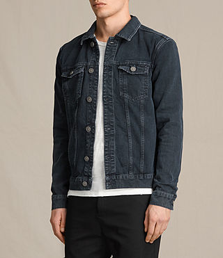 Hommes Mallaig Denim Jacket (Indigo Blue) - product_image_alt_text_3