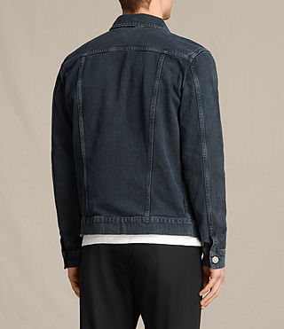 Hommes Mallaig Denim Jacket (Indigo Blue) - product_image_alt_text_4