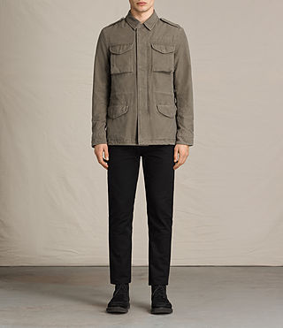 Mens Pearce Jacket (Khaki Green) - product_image_alt_text_1