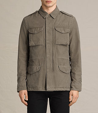 Mens Pearce Jacket (Khaki Green) - product_image_alt_text_2