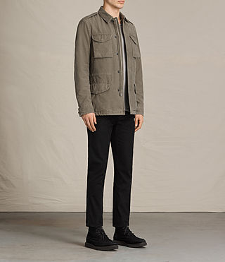 Mens Pearce Jacket (Khaki Green) - product_image_alt_text_3