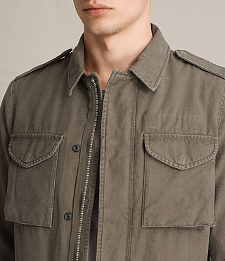 Mens Pearce Jacket (Khaki Green) - product_image_alt_text_4