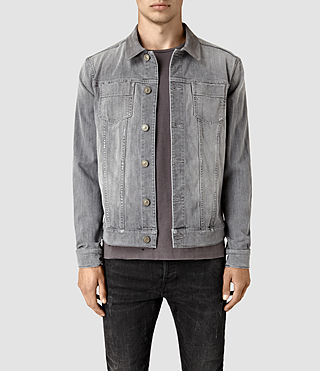 Mens Maxwell Denim Jacket (Grey) - product_image_alt_text_1