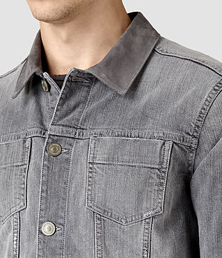 Hommes Maxwell Denim Jacket (Grey) - product_image_alt_text_2