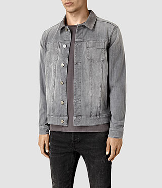 Hommes Maxwell Denim Jacket (Grey) - product_image_alt_text_3