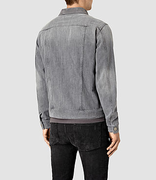 Mens Maxwell Denim Jacket (Grey) - product_image_alt_text_4