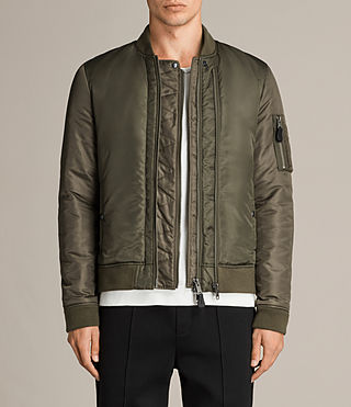 Mens Bellevue Bomber Jacket (Khaki Green) - Image 1