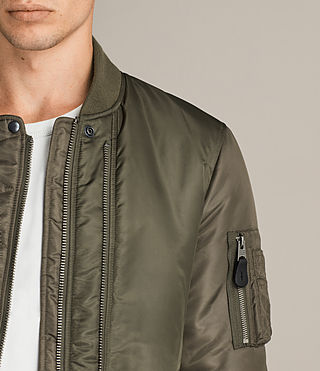 Mens Bellevue Bomber Jacket (Khaki Green) - Image 2