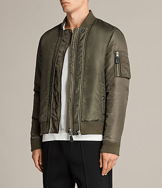 Mens Bellevue Bomber Jacket (Khaki Green) - Image 3